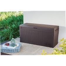 Suncast 50 Gallon Deck Boxstorage Bench by Keter Comfy Resin 71 Gallon Outdoor Deck Box Hayneedle