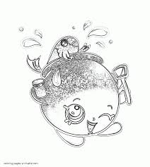 Shopkin Coloring Pages Goldie Fish Bowl