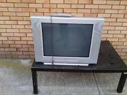 2003 sony fd trinitron wega kv 27fs100 crt tv on the street youtube