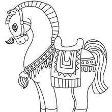 Running Horse Lovely Coloring Page