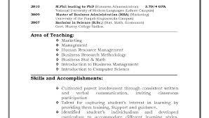 Examples Of Resumes For Teachers Resume Teacher Preschool Assistant Sample