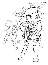 Gallery Of Marvellous Design Bratz Coloring Pages 2 Printable Baby Kids Pint For