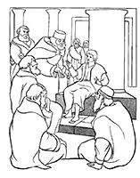 Coloring Page Of Luke 241 52 In The Temple Boy Jesus