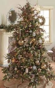 Brown Gold And Cream Christmas Tree Decor
