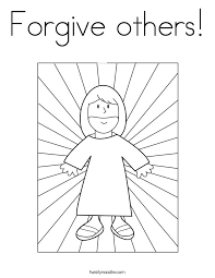 Forgive Others Coloring Page