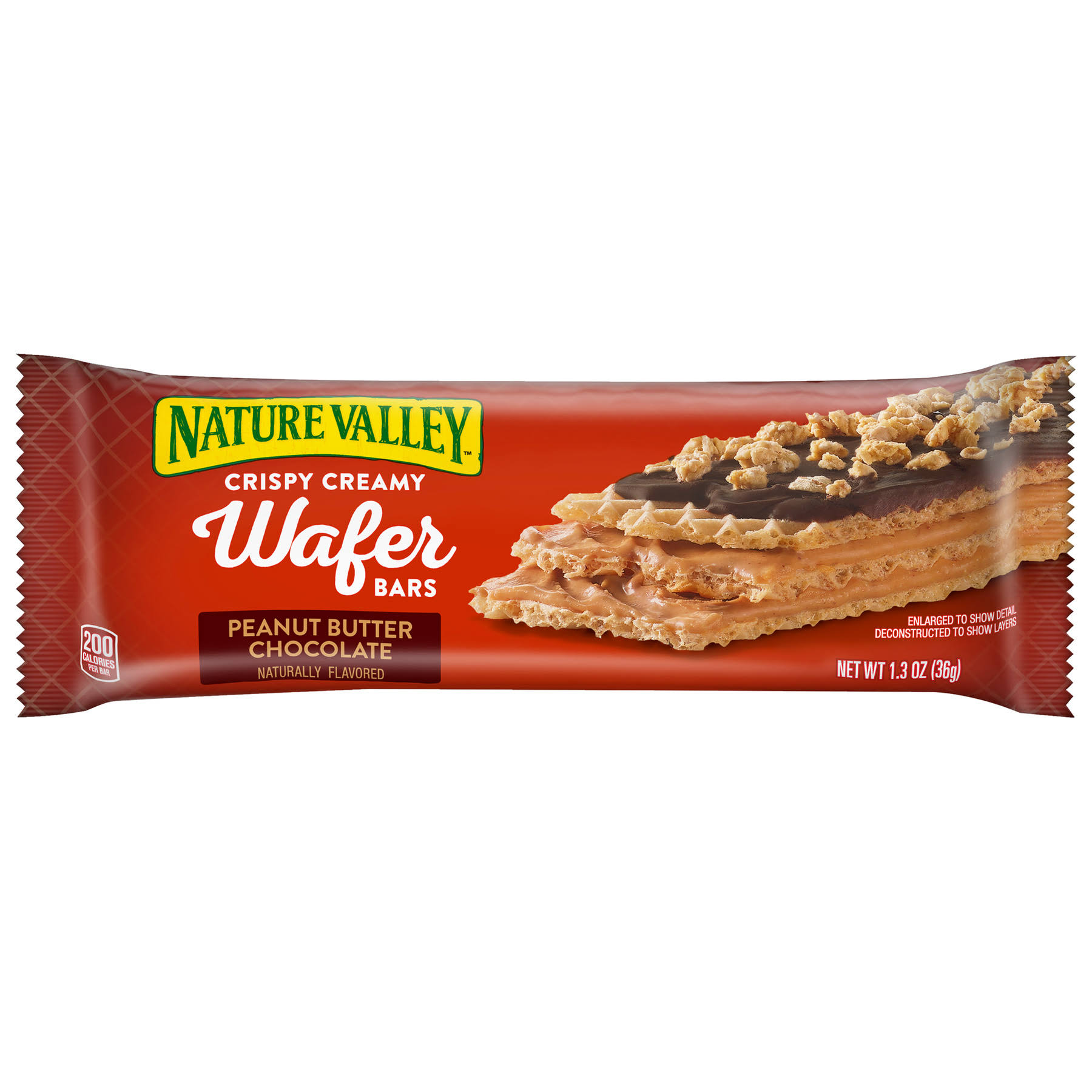Nature Valley Wafer Bars, Peanut Butter Chocolate, Crispy Creamy - 1.3 oz