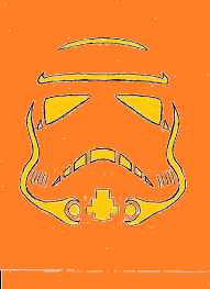 New Stormtrooper Pumpkin Stencil blurgh the thinkgeek blog 45 geeky pumpkin carving templates