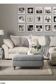 Classic Home Updates Ottomans Grey Walls Living RoomGrey