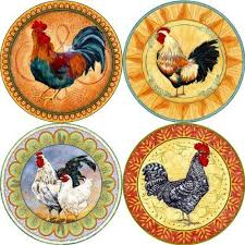 Amazon Rooster Kitchen Curtains by 456 Best Rooster Glass Images On Pinterest Rooster Decor Diy