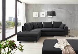 ecksofa ecke sofa sitzecke webstoff schwarz blau braun