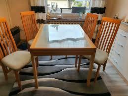 glastisch ausziehbar mit 4 stühlen zu verschenken in