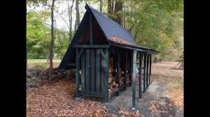 homemade firewood storage shed time lapse youtube