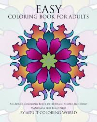 THERAPEUTIC COLORING FOR SENIORS Easy Coloring Book For Adults 40 Mandalas