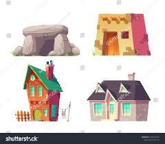 100 Rural Design Homes Human Prehistoric Modern Time Cartoon Buildings