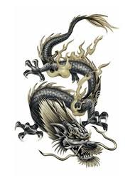 3D Chinese Dragon Tattoo Awesome Tribal