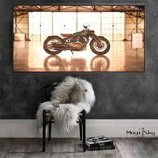 vintage motorrad motorrad poster und drucke leinwand malerei