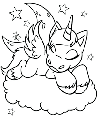 Unicorns Coloring Pages Unicorn Coloring Pages Free Cute Baby