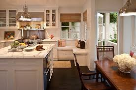 View In Gallery A Cozy Bench The Corner Of Traditional Kitchen Design Jeneration Interiors
