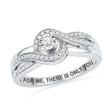 TW Diamond Swirl Promise Ring In Sterling Silver 25 Characters