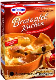 dr oetker bratapfel kuchen großmutters back ideen nutri