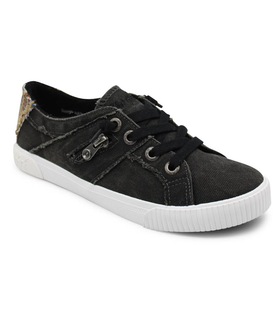 Blowfish Fruit Women's Lace up Casual Shoes - Black Smoked Canvas