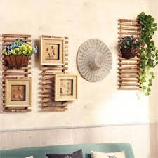Image Is Loading Rustic Style Wall Hanging Shelf Display Cabinet Unit