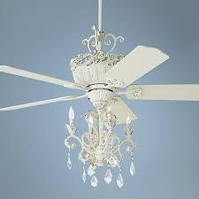 white shabby chic ceiling fan 5183