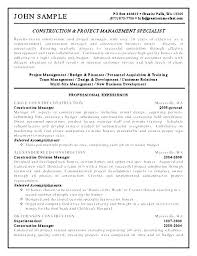 Construction Project Manager Resume Sample Pdf Curriculum Vitae