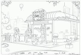 Lego Friends Cafe Coloring Pages Print Download 257 Prints
