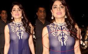 Shamita Shetty Wardrobe Malfunction At UMANG 2016