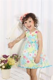 new girls cotton dress materials nature casual baby dresses