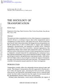 The Sociology of Transportation PDF Download Available