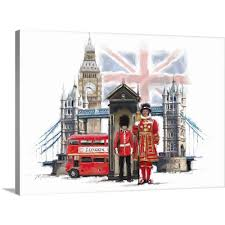 100 Studio 24 London Amazoncom GalleryWrapped Canvas Entitled By The
