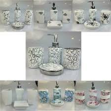 details zu 4tlg porzellan badset badezimmer bad set seifenspender wc