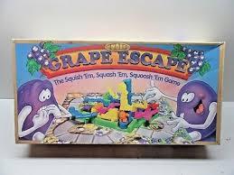 1992 Parker Brothers The Grape Escape Board Game
