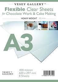folie a3 für schokoladen arbeit und kuchen machen 8 blatt 400 mikrometer