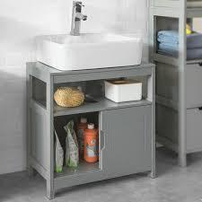 sobuy frg128 sg waschbeckenunterschrank badmöbel badschrank mit fußpolster waschtisch unterschrank