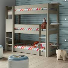 triple bunk bed mathy by bols various colours nubie toddlers