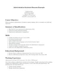 Administrative Assistant Resume Summary Fresh Sample Executive Admin Job