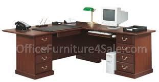 Sauder L Shaped Desk With Hutch by Sauder Heritage Hill Outlet Executive L Shape Desk 29 3 4 U0027 U0027h X 70