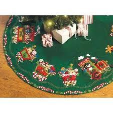 Christmas Tree Skirt Kit Candy Express Cross Stitch Disney