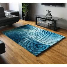 Blazing Needles Concentric Waves Textured Gradated Shag Blue Area Rug Reviews