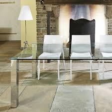 moderner glastisch glasesstisch dreieck design