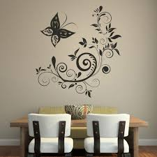 Beautiful Wall Stickers Easy Art Ideas For Interior Dining Room Decorating With Unique Curved Shaped