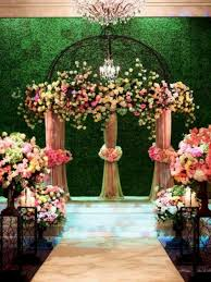 Indoor Wedding Ceremony Backdrop Idea