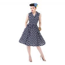 matilda u0027 navy polka dot shirt dress
