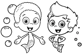 10 Bubble Guppies Coloring Pages Goby 7125 Via Azcoloring