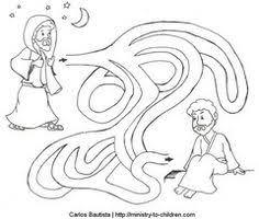 Nicodemus Seeks Jesus Coloring Page Maze Repinned By Totetude