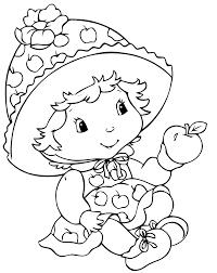 Strawberry Shortcake Coloring Page Charlotte Aux Fraises
