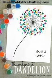 Thumbprint Dandelion Kid Craft this idea would be a great t